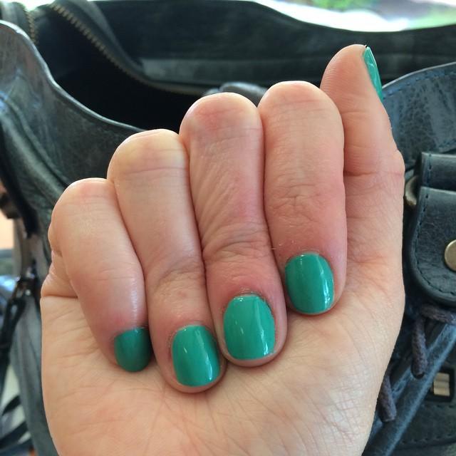 "LVX ""Viridian"" #nails #manicure #coloroftheweek"