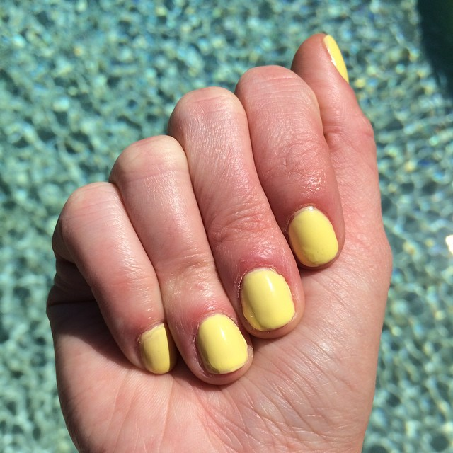 "I had to try @chinaglaze ""Sun Upon My Skin"" before summer is officially over. #nails #manicure"