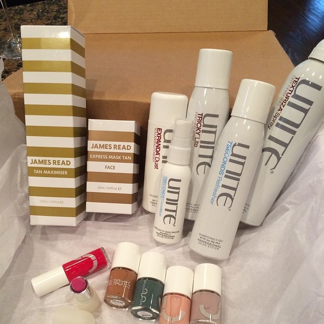 This delivery from @purpleprbeauty actually made me forget it's Monday! Posts to come! @jamesreadtan @unite_hair @usluairlines #ilovemyjob
