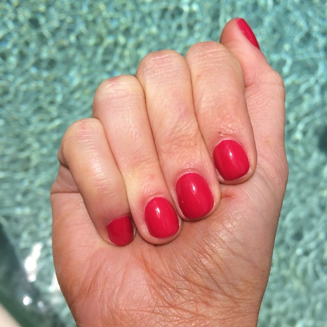 "@essiepolish ""Haute in the Heat"" #nails #manicure #coloroftheweek"