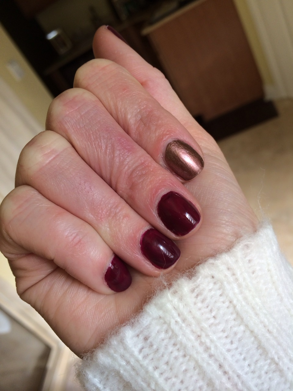 IBB Tip: if you chip a nail and don't have the polish, make a statement with a metallic color.