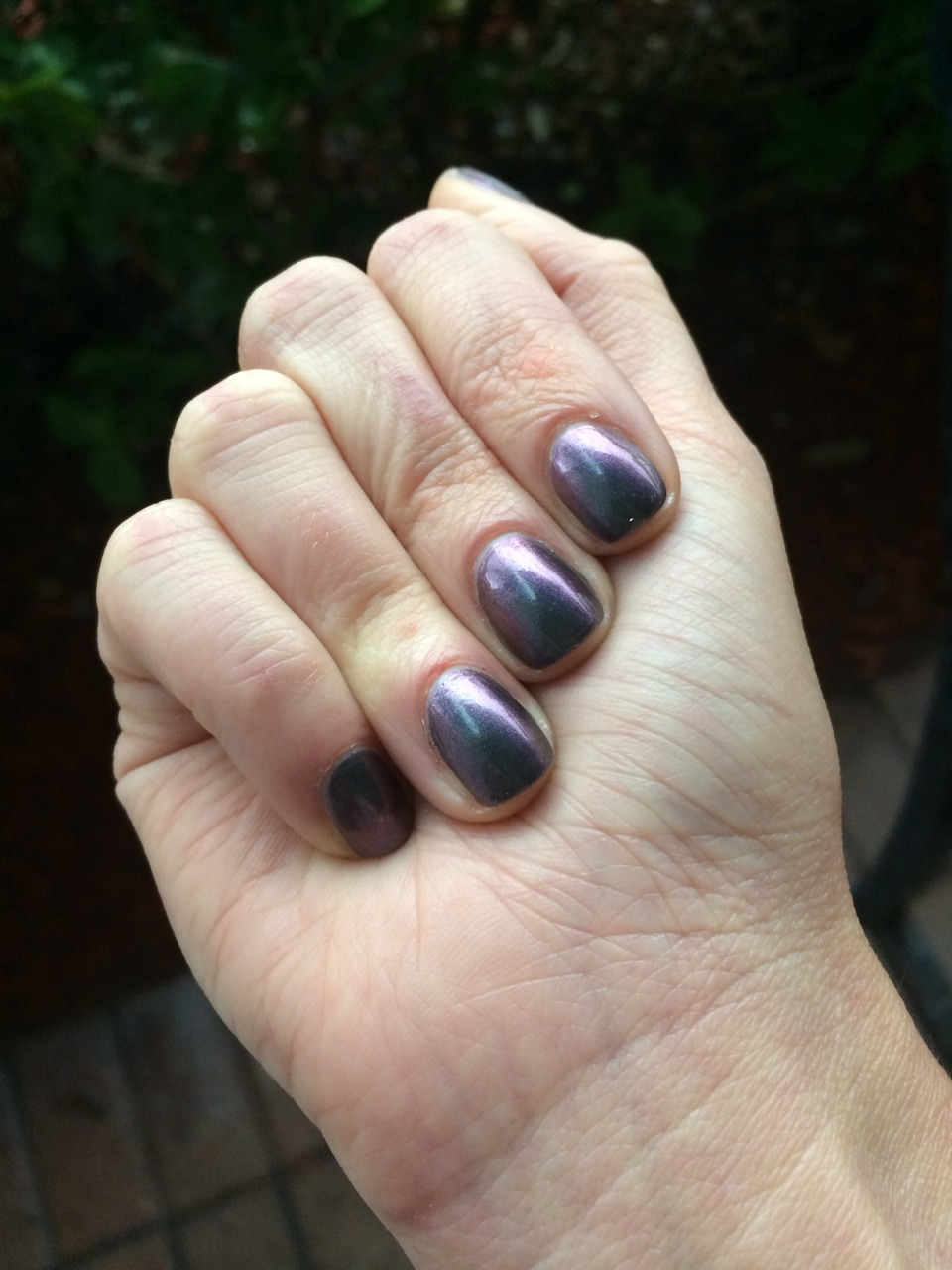 """Square Hue """"Oil Slick"""" from the October 2013 collection."""