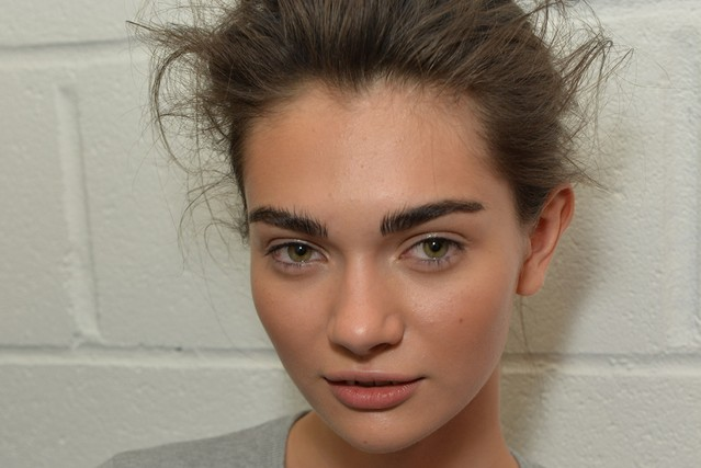 Inspired by Brooke Shields (obviously), brows took center stage at Tom Ford's London Fashion Week show.