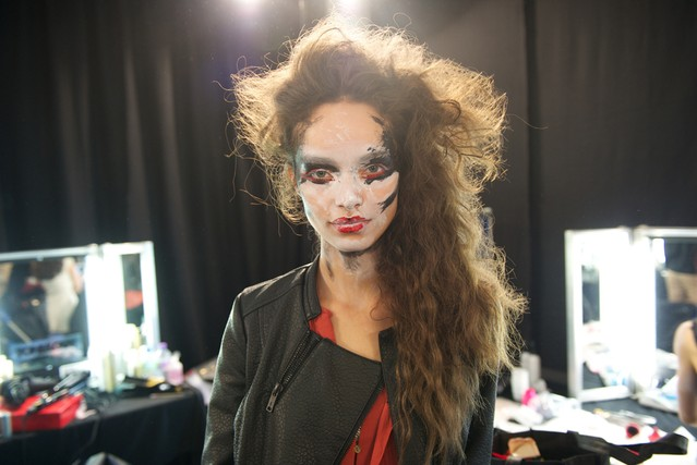 "In true Vivienne Westwood fashion, the makeup by M.A.C was ""completely bonkers."""