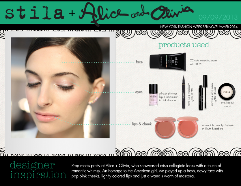 Call off the hunt… Our go-to look for Spring has been found thanks to Stila for Alice + Olivia!
