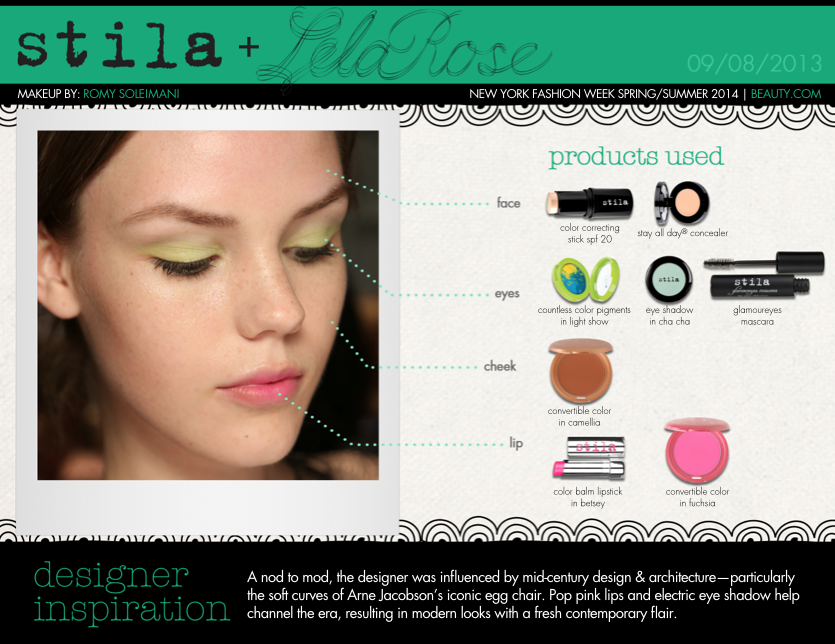 Loving these fun (and somewhat rare) pops of color by Stila at Lela Rose.