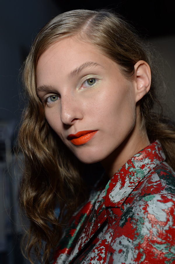 Loving this fresh NARS Cosmetics look from the Creatures of the Wind show… Can't wait to try the Timanfaya Satin Lip Pencil (new for Spring 2014)!