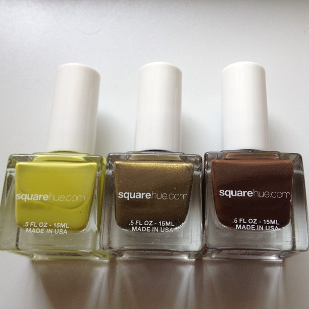 The Square Hue September 2013 Serengeti collection. That sparkly green (middle) is calling my name!