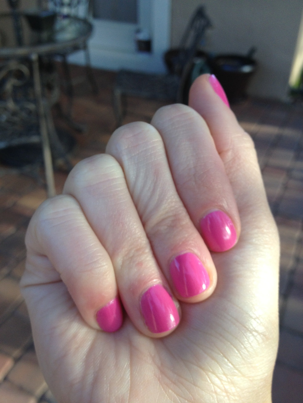 "CND Vinylux in ""Hot Pop Pink."""