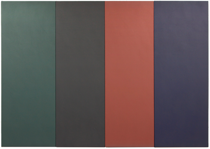 Cassio Michalany,  Untitled , 2015, Acrylic on wood, 53 × 74""