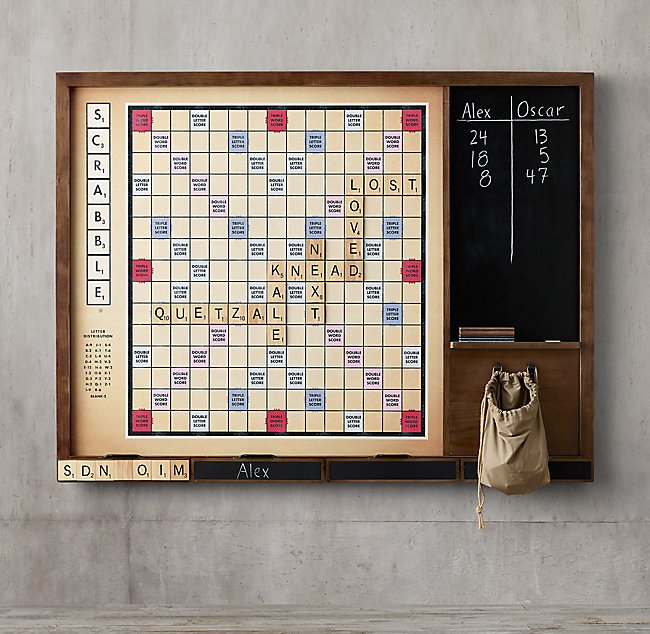 Best giant scrabble for the family game room.  Note it's 6.6 feet long.