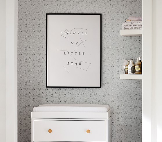 Photo of installed wallpaper.