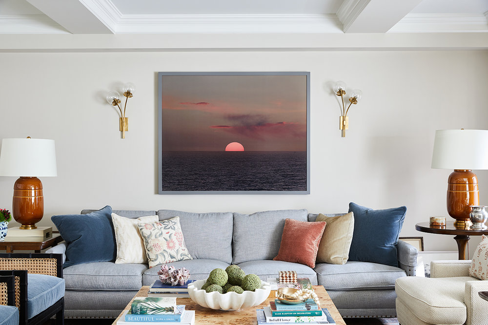 Upper Wast Side Sunset Living Room