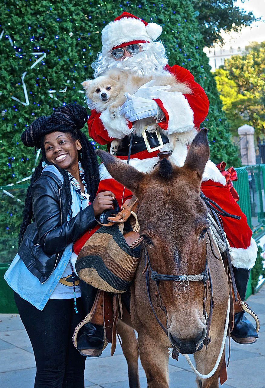 Merry Christmas from a cowboy Santa