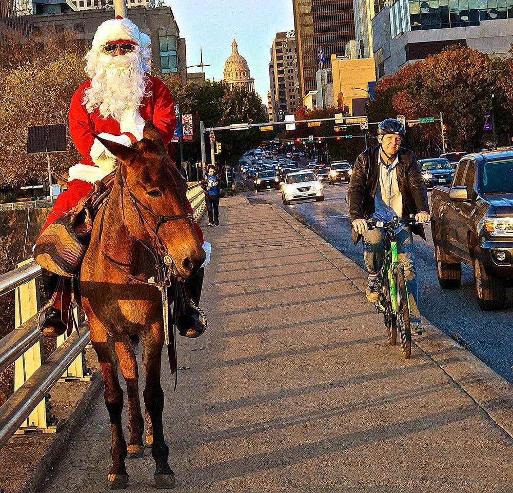 Santa on the bridge