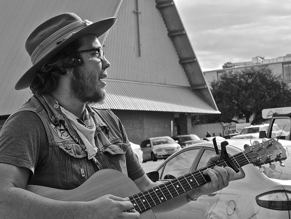 Zane, a street musician