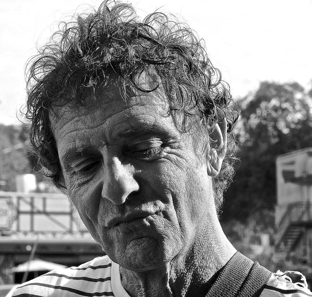 Street musician portrait
