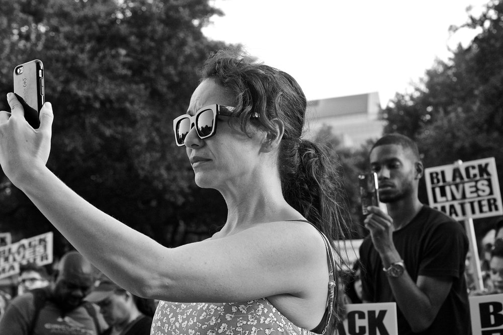 A diverse crowd attended a July 15, 2016, Black Lives Matter rally at the Texas Capitol in Austin. The rally protested police brutality against black men and all people of color.