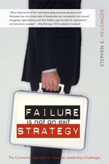 Failure is Not an Exit Strategy, by Stephen Heusinger Coming soon...