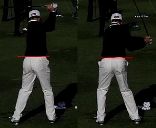Fig. 1 - Perfect Hip Bump during transition from backswing to downswing