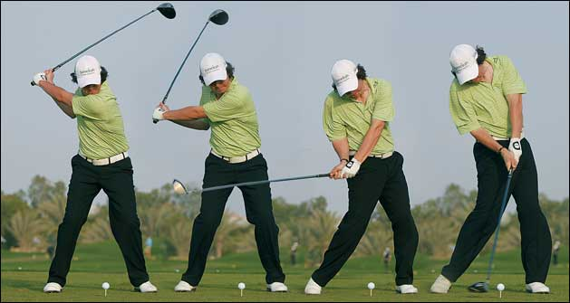 Fig. 3 - Complete Sequence of the Hips on the downswing