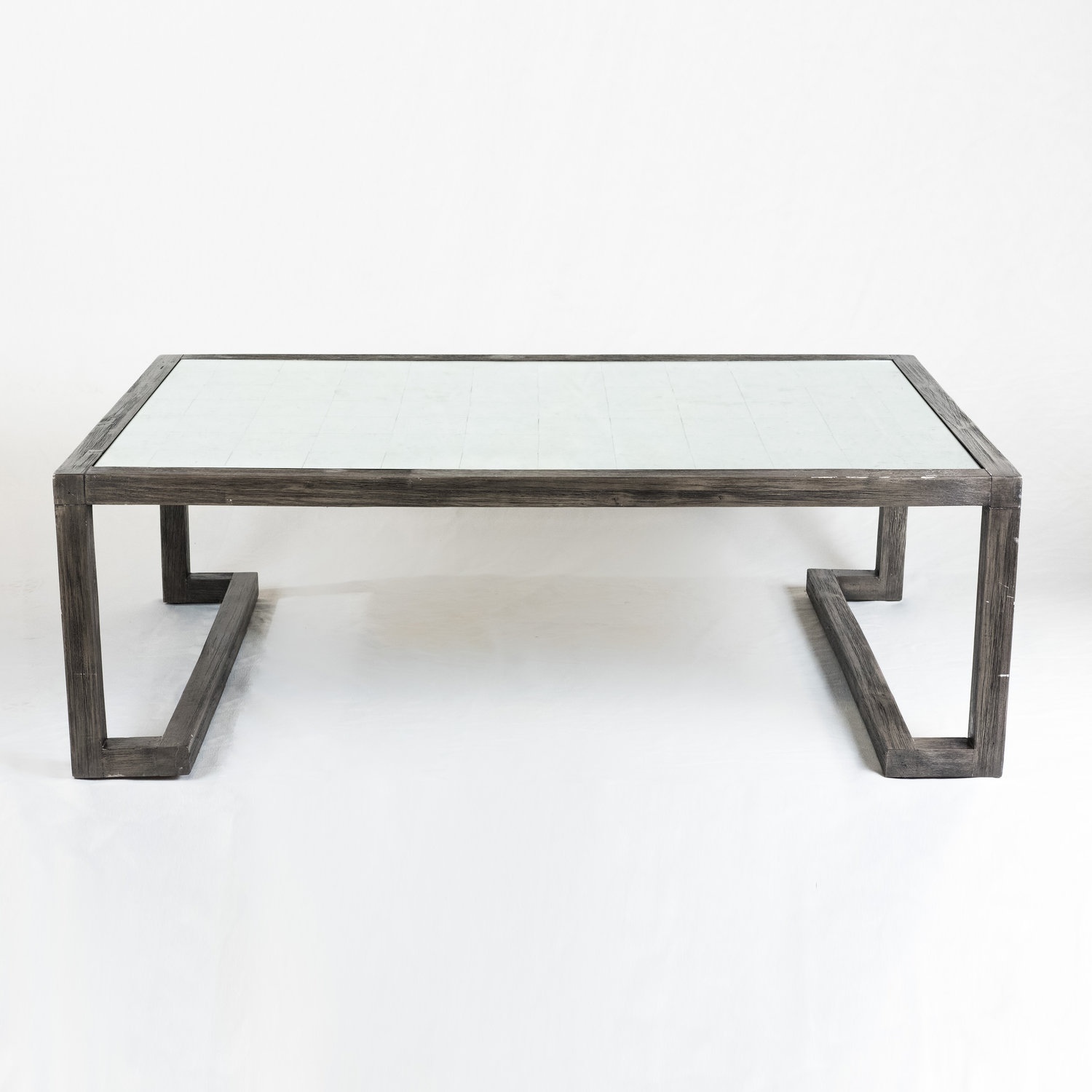 Mercury glass coffee table — Aiden & Grace