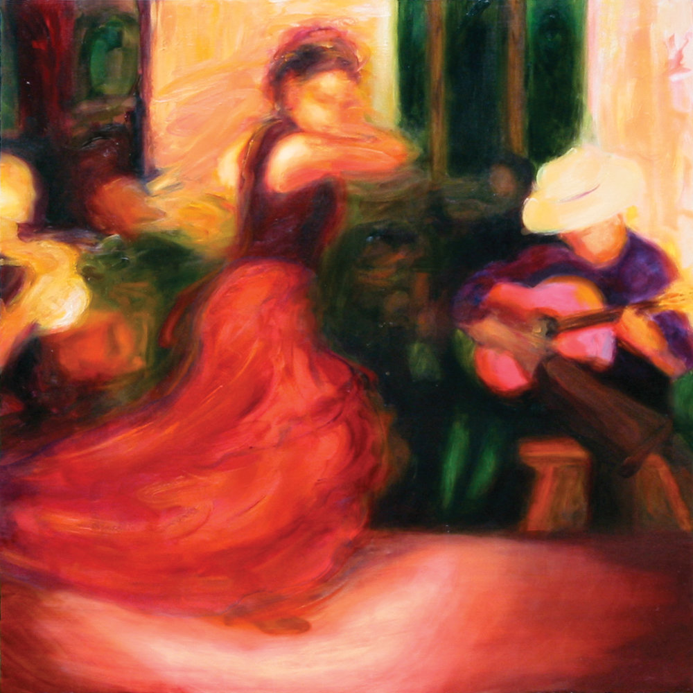 "Flamenco IX  - Oil on canvas - 36"" x 36"" - 2005"