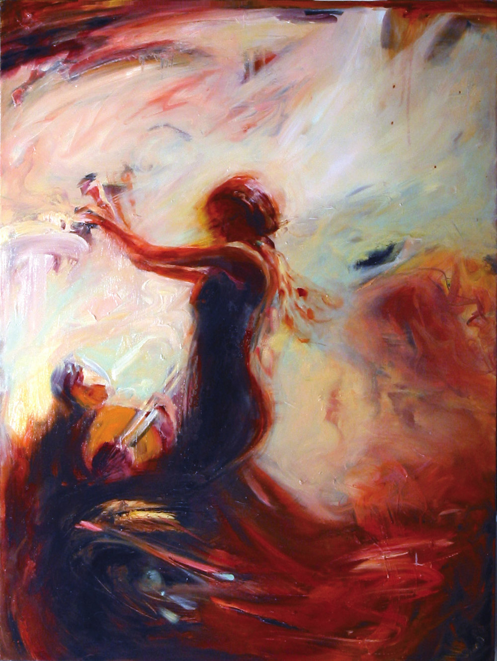 "Flamenco V  - Oil on canvas - 40"" x 30"" - 2004"