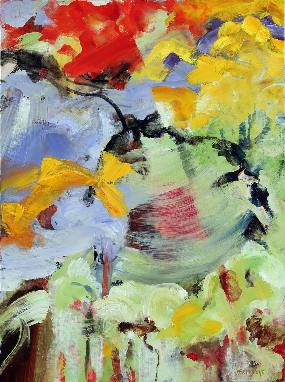 """Everything's Vine from the Series: Abstracts - Oil on canvas - 24"""" x 18"""" - 20 14"""