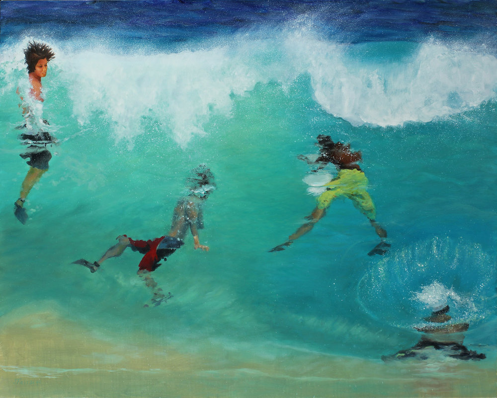 """All In from the Series: Kiss the Joy as It Flies- Oil on canvas- 60"""" x 48"""" - 2015"""