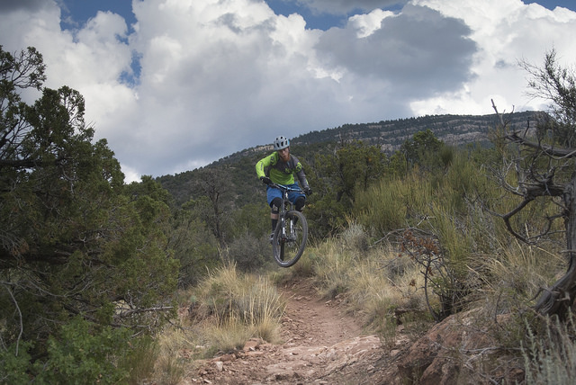 Eric Cook Ripping it in Placitas-Photo: Mountain Bike New Mexico