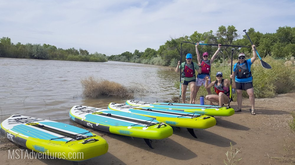 Grab your friends and hop on board (oh I crack myself up sometimes...) for a SUP tour down the Rio Grande through the Albuquerque Bosque.