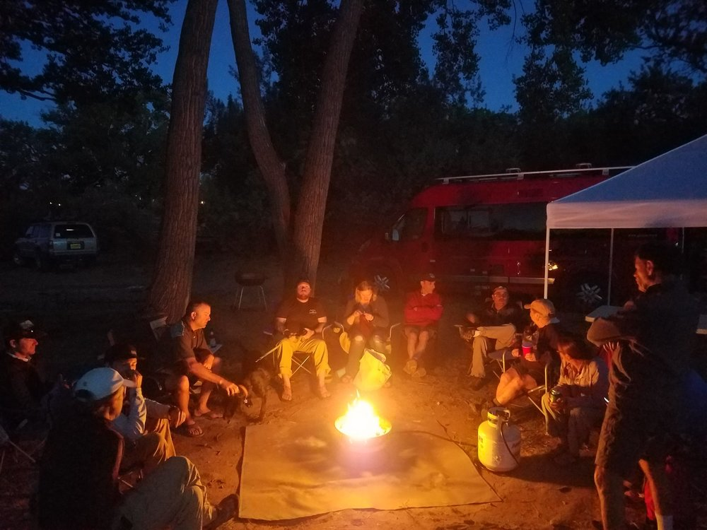 Sitting around the (gas) campfire after dinner. Picture from San Juan Citizens Alliance on FB.