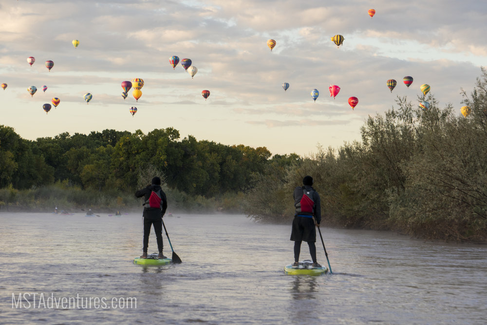- Enjoying the balloon fiesta on a guided paddle board tour, is the best way to experience Albuquerque