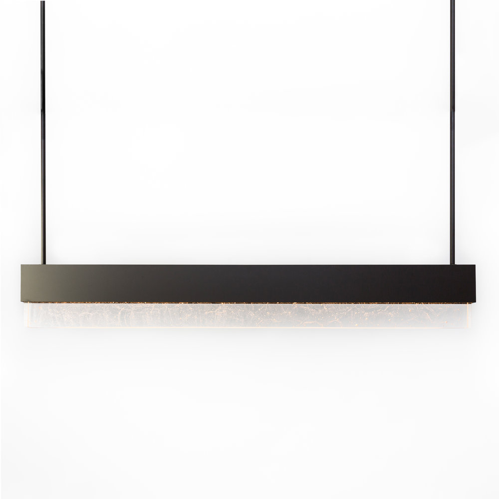 Shown in Dark Bronze with Crystal Glass