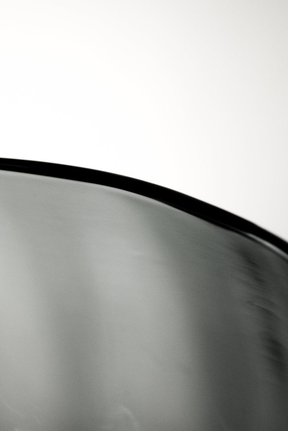Shown in Gradient Grey Blown Glass