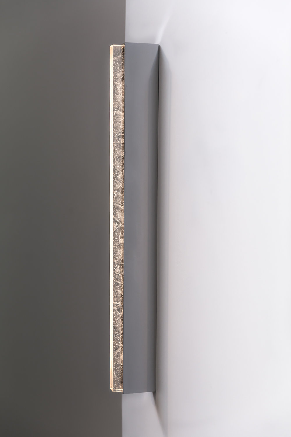 Shown in Polished Nickel with Crystal Glass