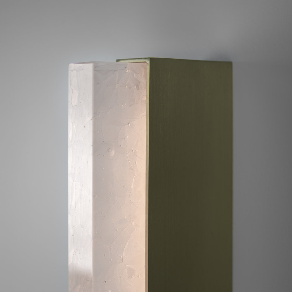 Shown in Satin Brass with Rock Crystal Glass