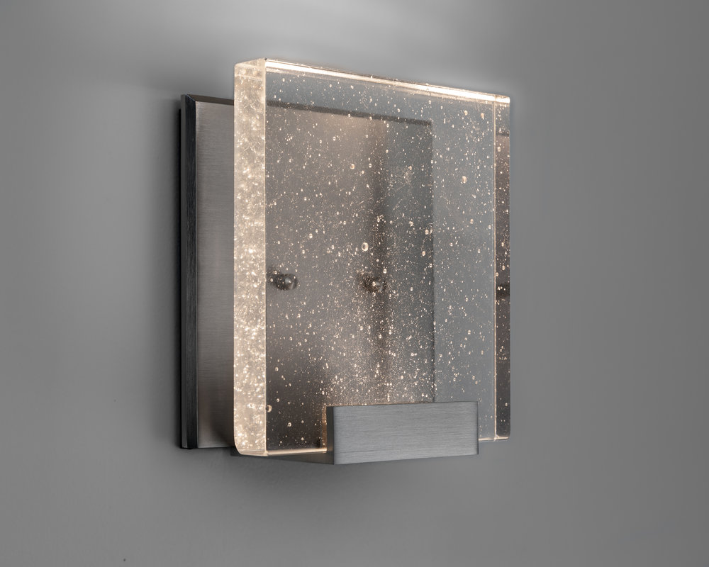 Shown in Satin Nickel with Cast Crystal