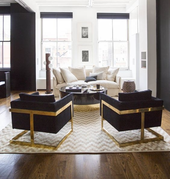 Nate Berkus styled this space featuring the 989 lounge chair, also known as the T-Back, for reasons made obvious by this view.