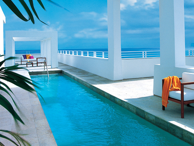 The pool at the penthouse at the Shore Club. The luxury residences at the historic property are marketed to appeal to a new audience of sophisticated buyers.