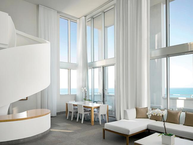 Inside a Shore Club penthouse.