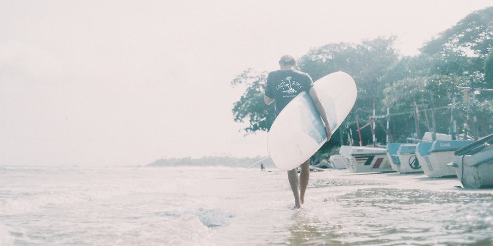 Imagery is designed to match the slow living, surf loving lifestyle which Lost Boys Book Club has developed from. This image was shot in Sri Lanka.