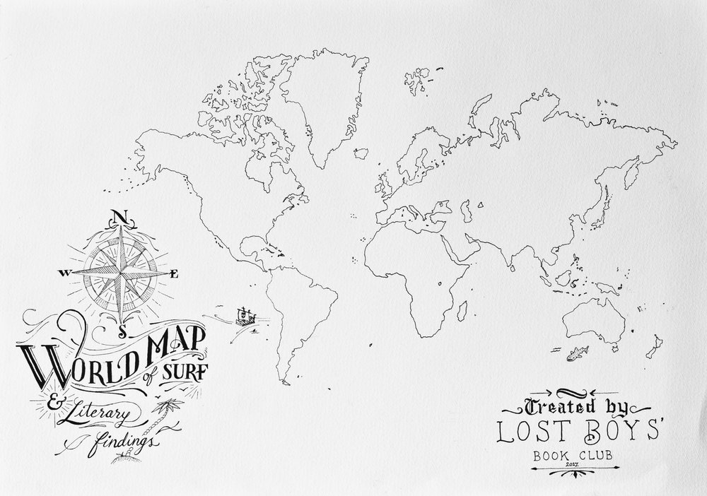 For the website function, I hand illustrated a map of the world which will be used to add pins to for locations which have been reviewed.