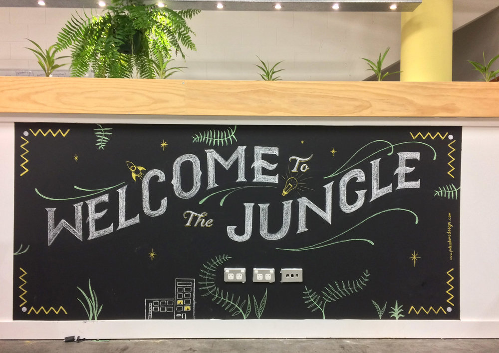 Vibewire Co-Working Space Chalk Mural