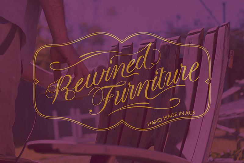Rewined Furniture - Custom Logotype & Branding
