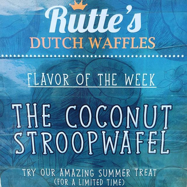 Friends, this is not a drill ⚡️COCONUT STROPWAFELS ARE HERE 🙌 come get 'em - limited supply 😋#coconut #stroopwafel #cookies #dutch #food #nyc #brooklyn #smorgasburg #rutteswaffles #mindblown 💥