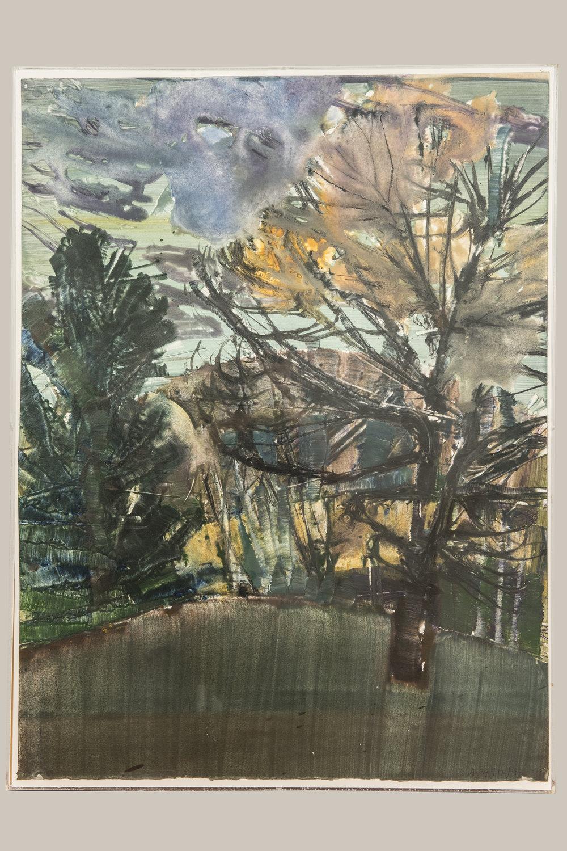 Landscape.  Acrylic on paper.