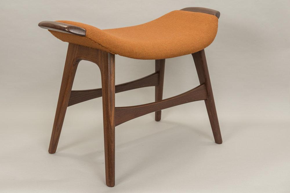 Mid-century teak stool