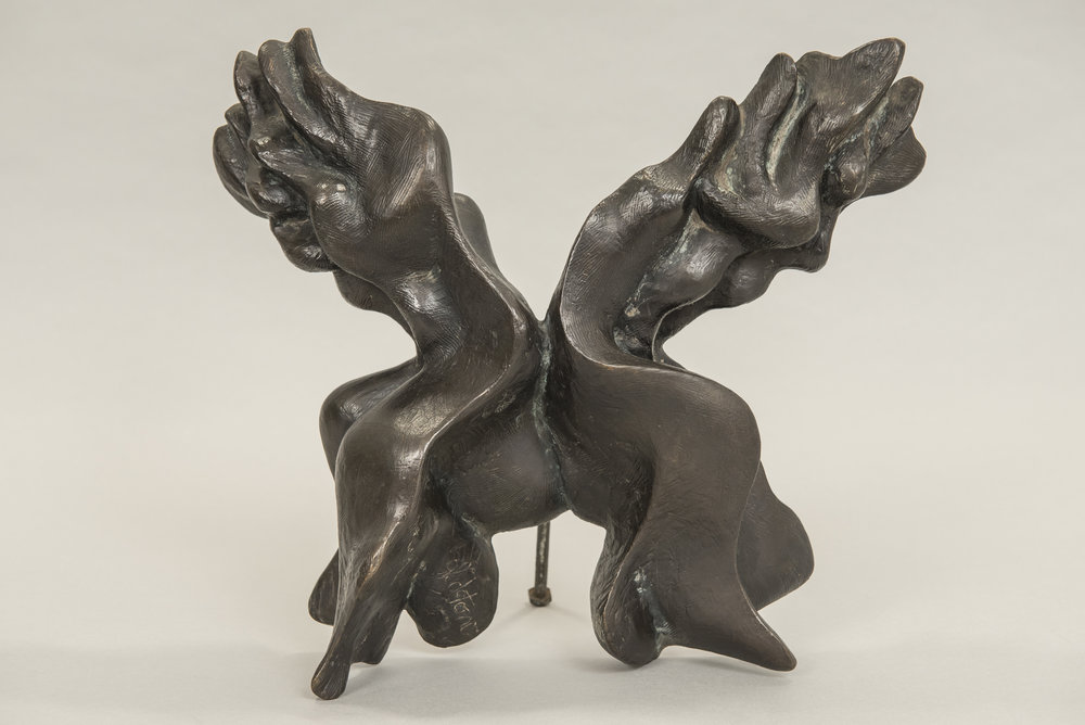 Two figures - bronze sculpture